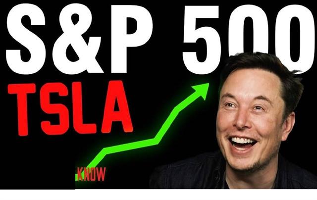 Tesla sắp gia nhập vào S&P 500 và là một trong những cổ phiếu vốn hóa lớn nhất chỉ số