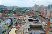 [Ảnh] Toàn cảnh dự án gần 25 ha xây không giấy phép tại Thủ Thiêm, TP HCM