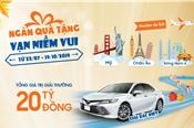 Trúng thưởng ô tô Toyota Camry và ngàn quà tặng từ Sacombank