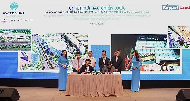 Nam Long ký hợp tác chiến lược với Keppel Land phát triển quỹ đất thương mại tại Waterpoint
