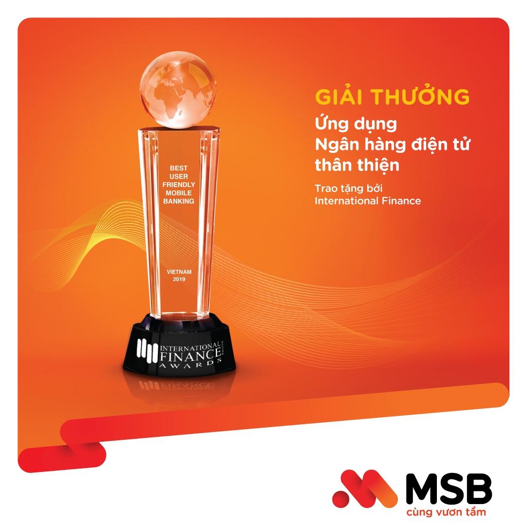MSB nhận giải thưởng Best User Friendly Mobile Banking