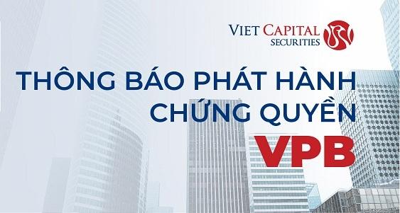 Chứng khoán Bản Việt phát hành chứng quyền cho 2 mã FPT và VPB