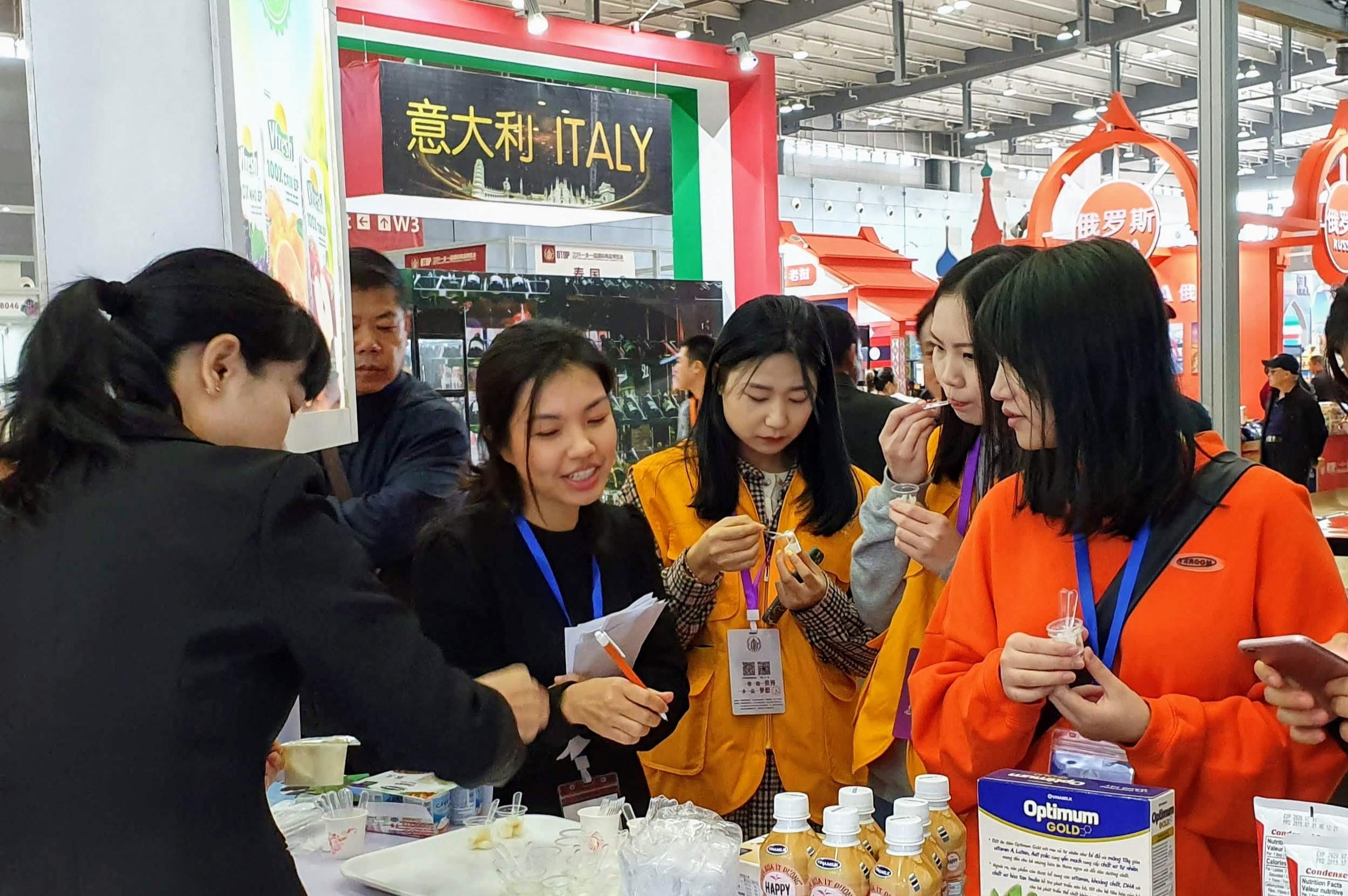 Sự kiện ra mắt của Vinamilk tại Trung Quốc thu hút truyền thông