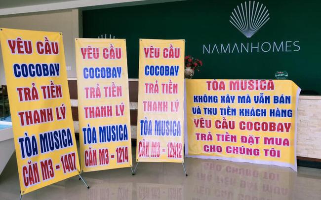 Băng rôn treo kín dự án Cocobay, khách hàng gửi đơn kiện lên Tòa án nhân dân Hà Nội: Thành Đô tuyên bố đơn phương hủy hợp đồng nếu hạn chót 30/12 kh