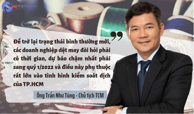 """Chủ tịch TCM: """"Để trở lại trạng thái bình thường mới, doanh nghiệp dệt may đòi hỏi phải có thời gian"""""""
