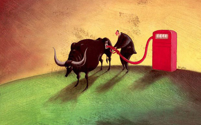 Cổ phiếu dầu khí dậy sóng, VN-Index vượt mốc 990 điểm