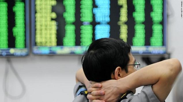Chứng khoán Trung Quốc vẫn tăng dù dữ liệu kinh tế ảm đạm