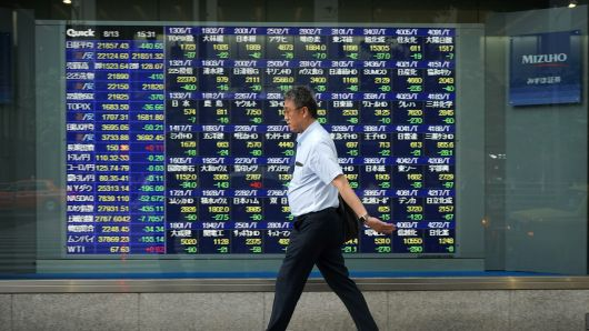 Chứng khoán Nhật Bản rớt mạnh vì nỗi lo về kinh tế toàn cầu