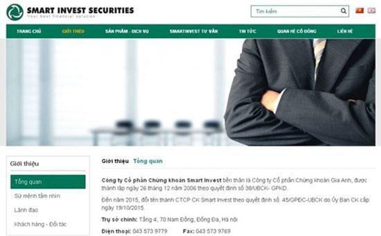 Chứng khoán SmartInvest bị phạt do vi phạm trong công bố báo cáo tài chính
