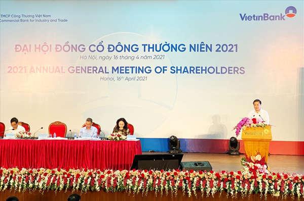ĐHĐCĐ VietinBank 2021: Mục tiêu lãi trước thuế riêng lẻ 16,800 tỷ đồng