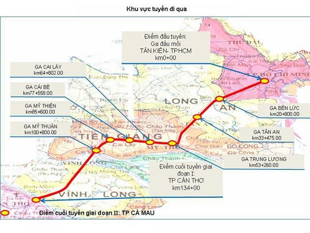 Đổi hướng đường sắt cao tốc TP.HCM - Cần Thơ giảm 17.000 tỉ đồng