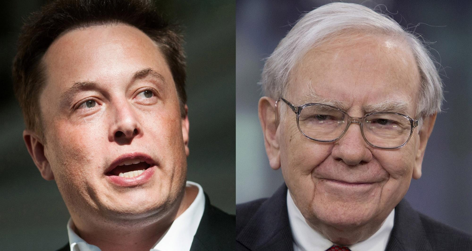 Elon Musk vượt mặt Warren Buffett trên bảng xếp hạng tỷ phú