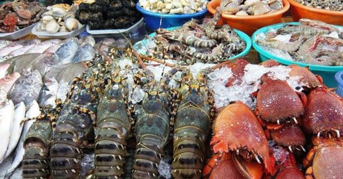 """Thị trường 24h: """"Choáng"""" với giá hải sản cỡ lớn sau Tết"""