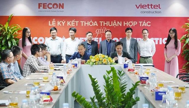 FECON và Viettel Construction ký kết hợp tác chiến lược