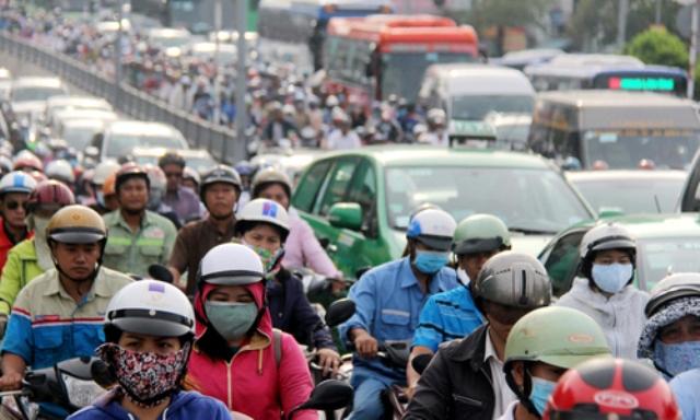 Giao thông Sài Gòn rối loạn do sự cố trước hầm Thủ Thiêm