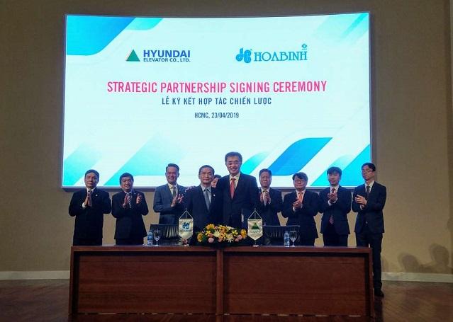 HBC ký kết hợp tác chiến lược với Huyndai Elevator
