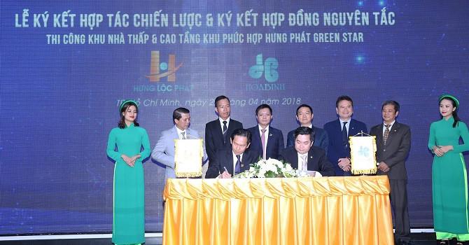 Xây dựng Hòa Bình ký kết hợp tác chiến lược với Hưng Lộc Phát