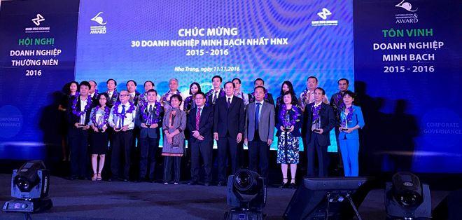 HNX vinh danh 30 doanh nghiệp quản trị tốt nhất