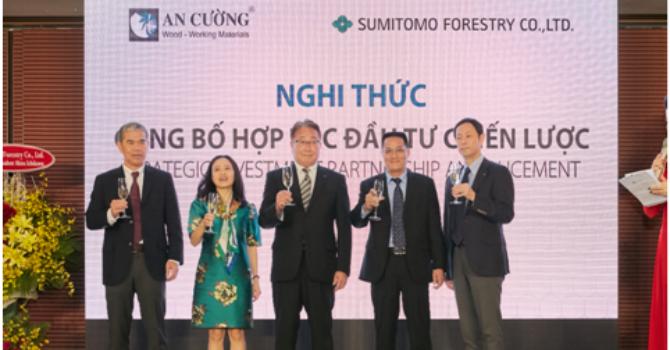Gỗ An Cường hợp tác chiến lược với Tập đoàn Sumitomo Forestry Nhật Bản