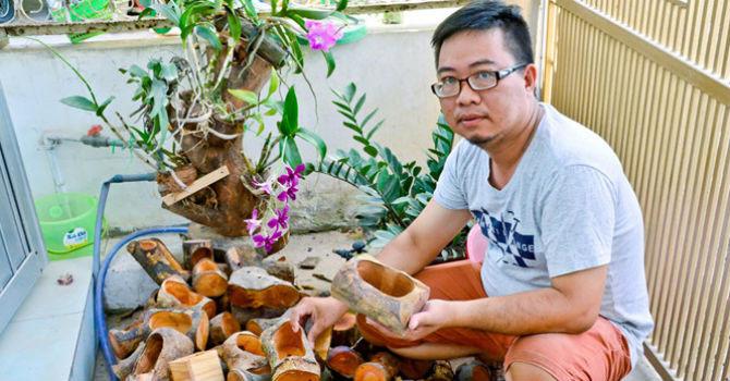 Khởi nghiệp từ làm chậu cây bằng gỗ