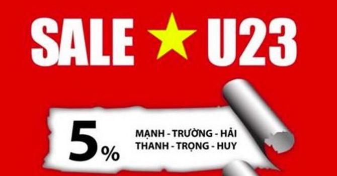 Hàng ăn, spa đến thớt gỗ: Đồng loạt giảm giá mừng thắng lợi U23 Việt Nam