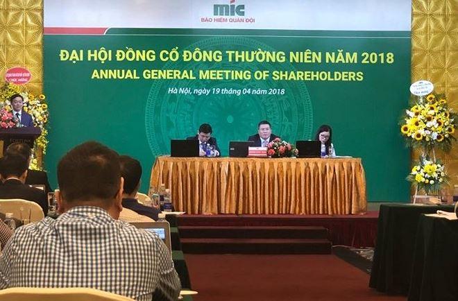 Đại hội đồng cổ đông Bảo hiểm MIC: Phải thoái vốn khỏi các dự án bất động sản trong năm 2018