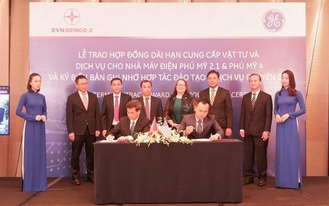 EVNGENCO 3 và GE ký hợp đồng cung cấp vật tư và dịch vụ cho Nhà máy Phú Mỹ 2.1 và Phú Mỹ 4
