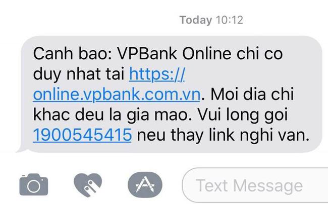 Cẩn thận với email lạ giả danh VPBank