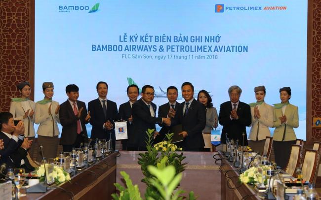Petrolimex cam kết đồng hành cùng Bamboo Airways, tiến tới hợp tác toàn diện với Tập đoàn FLC