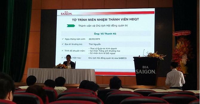 Đại hội bất thường Sabeco: Đồng ý miễn nhiệm Chủ tịch Võ Thanh Hà