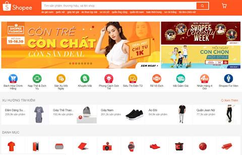 Vượt Lazada, Shopee dẫn đầu thương mại điện tử Việt Nam trong quý 3