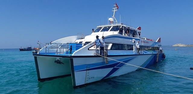 Đưa vào hoạt động tàu khách siêu tốc 2 thân tuyến Sa Kỳ - Lý Sơn