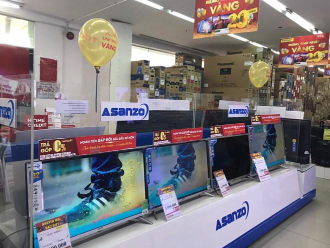 Siêu thị thu đổi tivi Asanzo sang thương hiệu khác