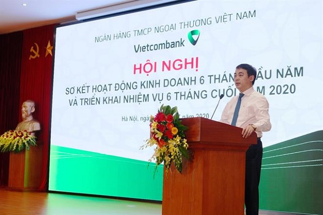 Vietcombank: Đến cuối tháng 6, nguồn vốn huy động tăng 5.6%, tín dụng tăng 5%
