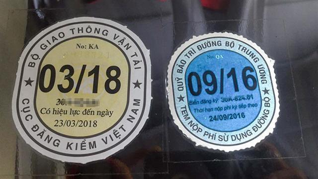 Bộ GTVT đề xuất đổi màu tem đăng kiểm để phân biệt xe kinh doanh