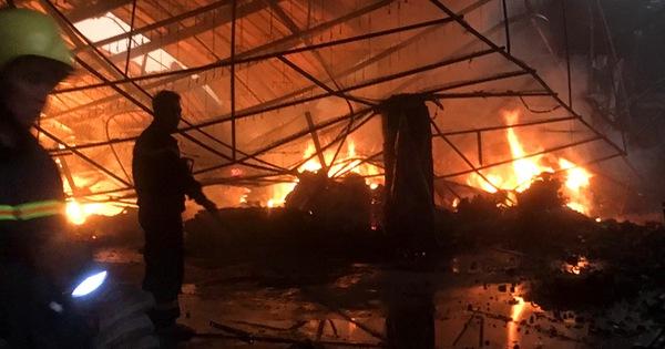 Công ty gỗ rộng gần 2.000m2 bị thiêu rụi