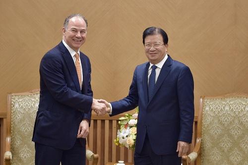 Khuyến khích doanh nghiệp Hoa kỳ đầu tư lĩnh vực năng lượng