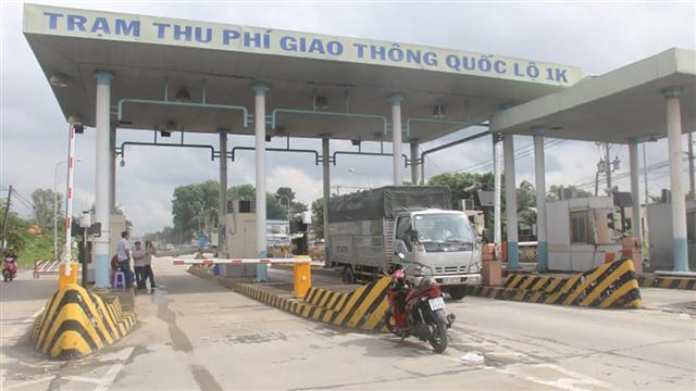 Tạm dừng thu phí tại các trạm BOT quốc lộ 1K qua Bình Dương - TP.HCM
