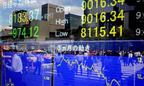 Chứng khoán Châu Á đồng loạt sụt giảm
